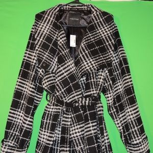 Maurices Womens 3 Black / White Button Jacket NEW